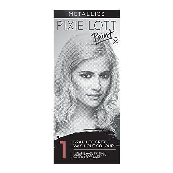 pixie lott paint wash out hair colour metallics graphite grey