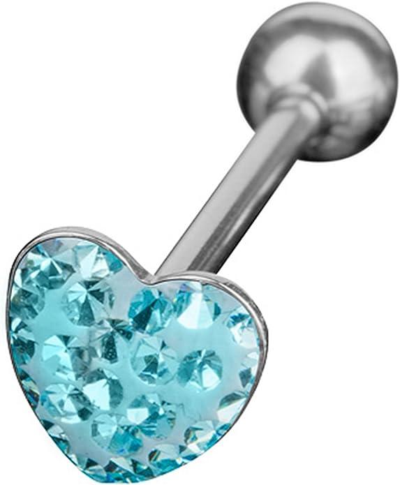 Zungenpiercing Ohrpiercing EPOXY KRISTALL Kugel FERIDO Piercing Multi Zunge Ohr
