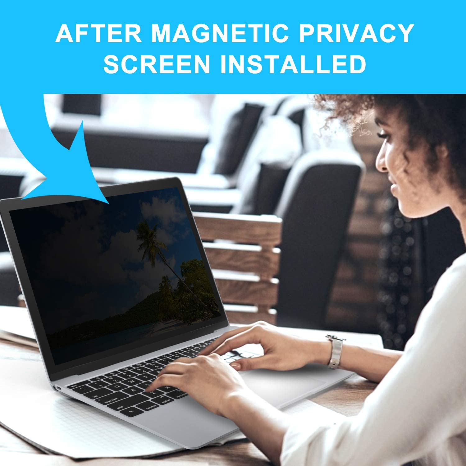 Model A1932 Magnetic Privacy Screen for MacBook Air 13.3 Inch Release 2018 Easy On//Off