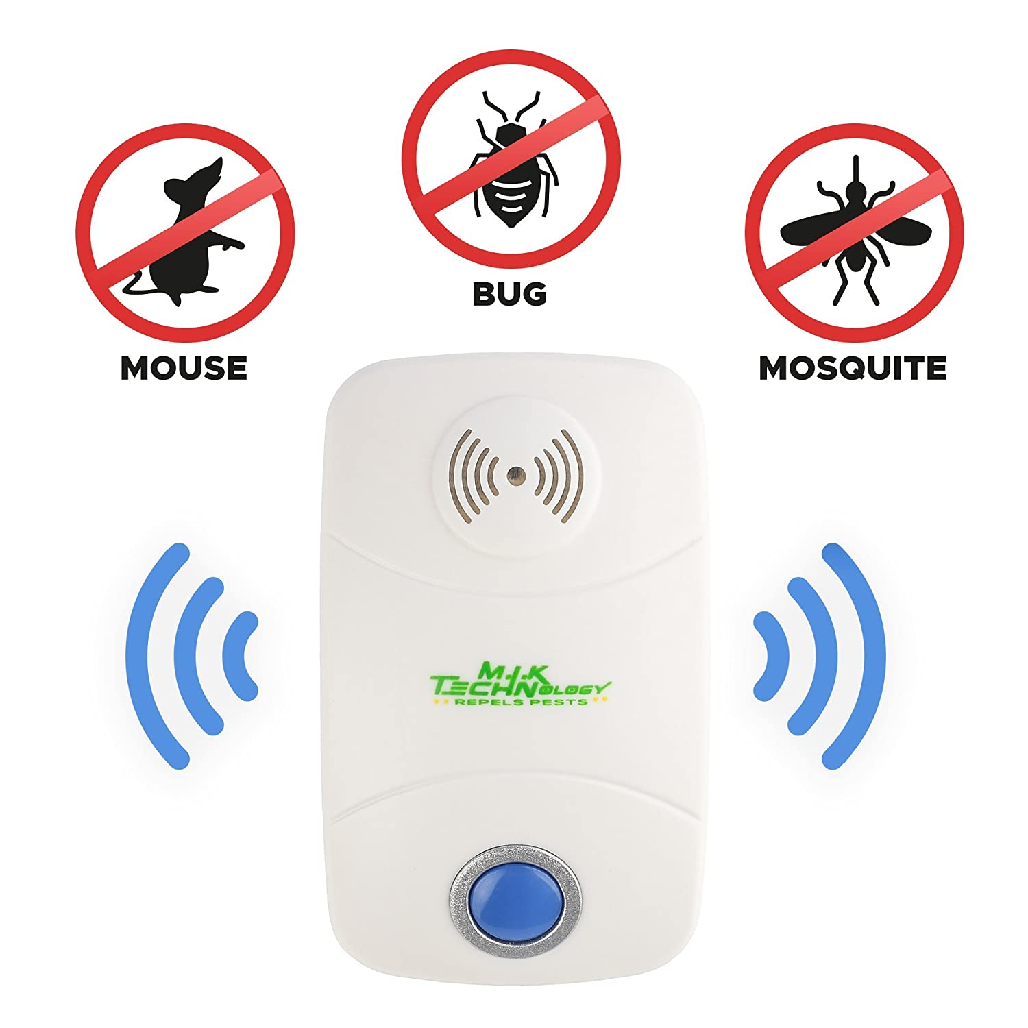 Ultrasonic Pest Repeller Pack Of 2 2018 Upgraded Mosquito Repellent Circuitbest Repellentindoor Control Electronic Plug In For Indoor And Outdoor Use Fight Insects Bug