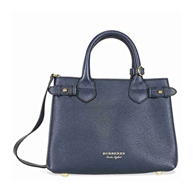 df6c833ad8a Amazon.com  Burberry Small Banner House Check Leather Tote - Ink Blue  Shoes
