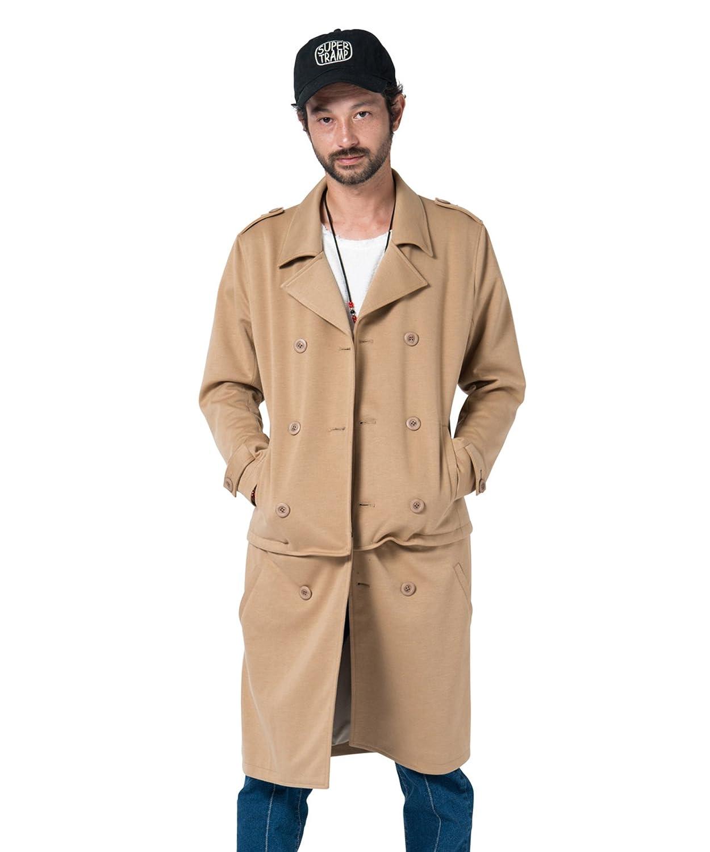(グラム) glamb Nes trench coat GB17SP/JKT04 ジャケット トレンチコート メンズ コート B0761RBZRS  ベージュ 1