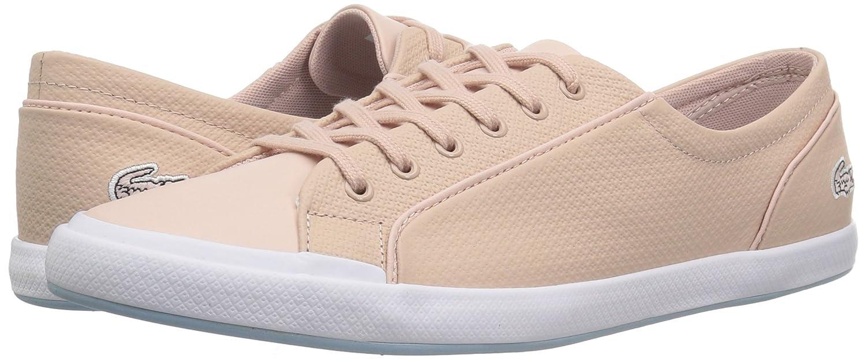 Lacoste Women's Lancelle 6 Eye Sneakers B072KJMFVH 9.5 B(M) US|Natural/Light Blu Leather