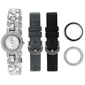 17f0117da94 Image Unavailable. Image not available for. Color  Peugeot Women s 669 Interchangeable  Bezel and Band Gift Watch Set