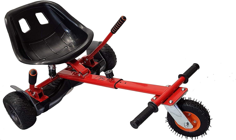 SILI® Kart à Suspension Hors Route pour Scooter à équilibrage Automatique à 2 Roues, Conception améliorée avec Suspension sous Le siège pour Un Confort Maximal Rouge