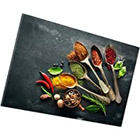Flameer Kitchen Pictures Wall Decor, Spice and Spoon Vintage Canvas Wall Art, Ready to Hang Retro Canvas Prints-S/M/L…