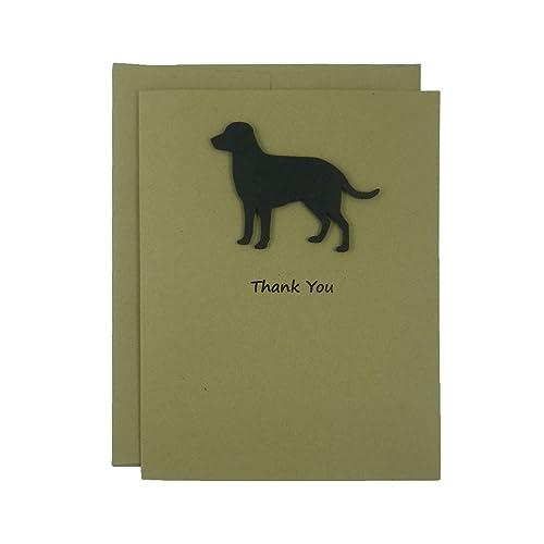 Amazon black labrador retriever thank you cards handmade black labrador retriever thank you cards handmade black dog kraft thank you note cards m4hsunfo