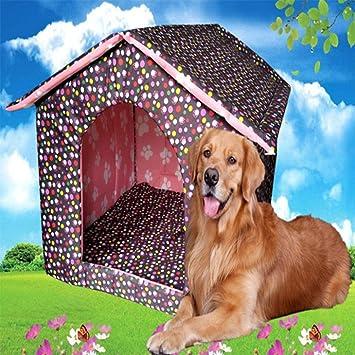 Perrera Mascota Nido Teddy Golden Mao Satsuma Cama para Perros Casa de Perro Grande Perro Grande