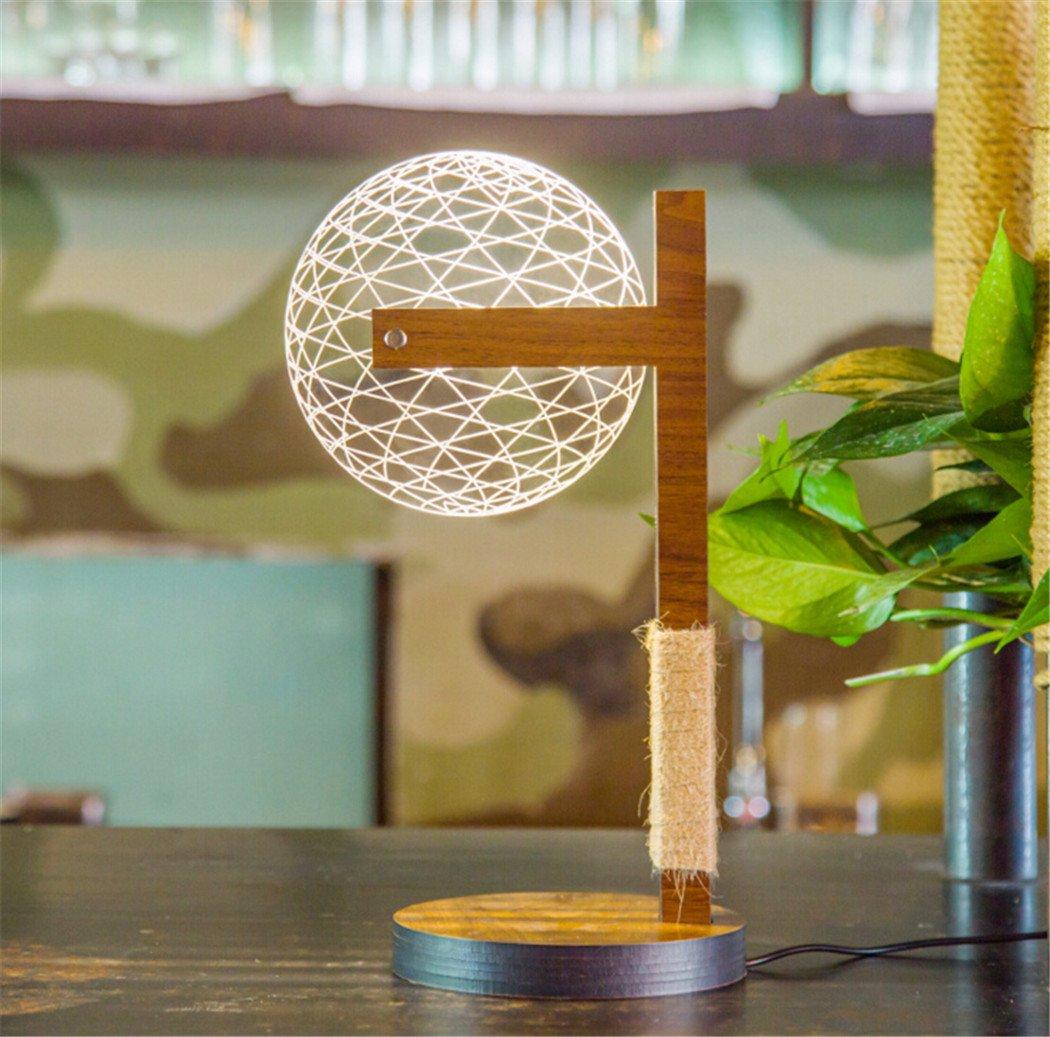 outgeek Illusionランプ、3dデスクランプ円イリュージョンナイトライトベッドサイドランプホーム   B079K8S64L