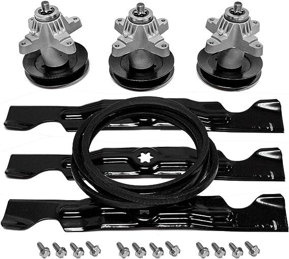 Blade Spindle & Belt Rebuild Kit Compatible with Cub Cadet MTD Troy Bilt RZT 50