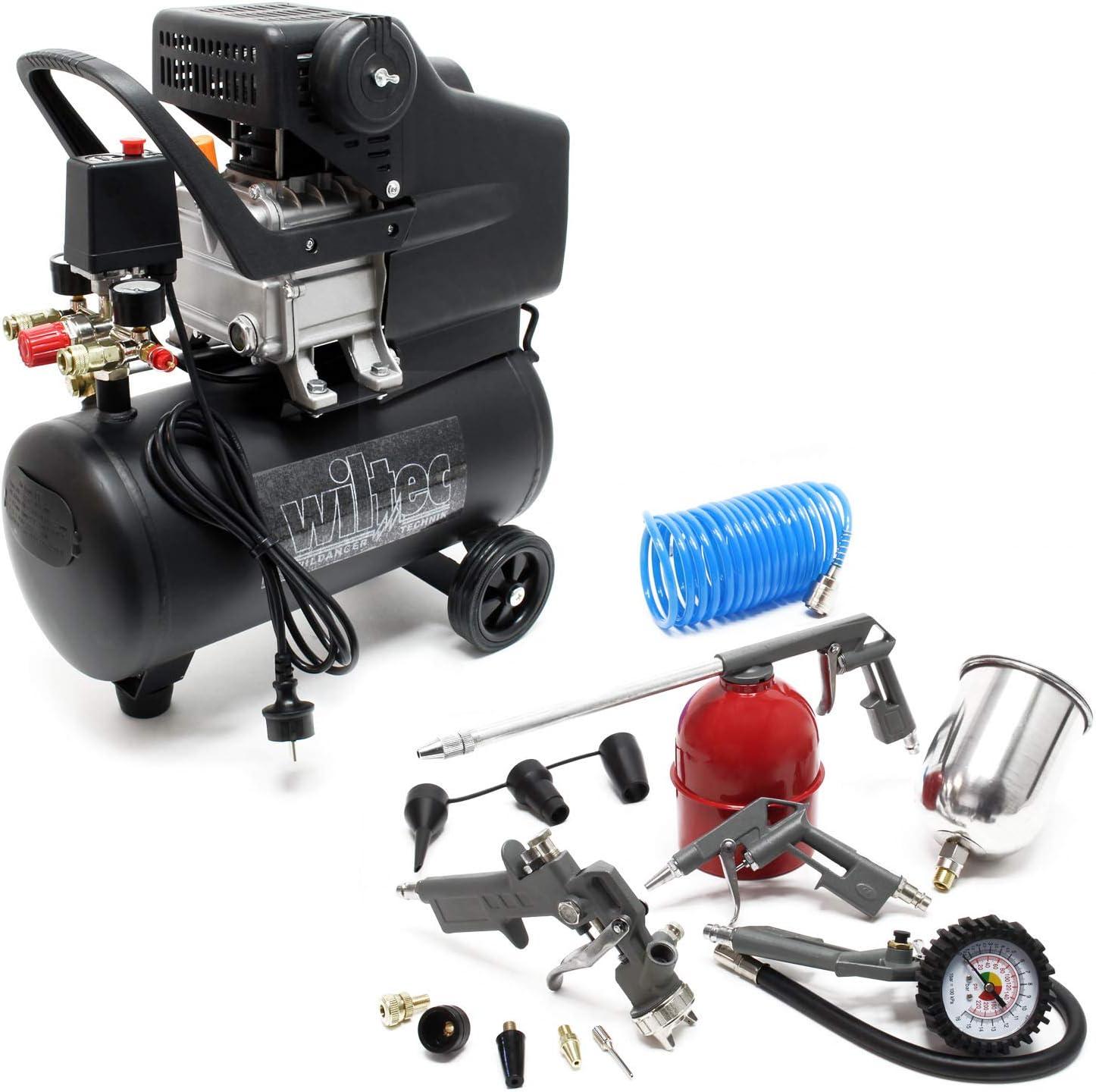 Compressore 24 litri con set di accessori da 13 pz Compressore daria compressa con accessori