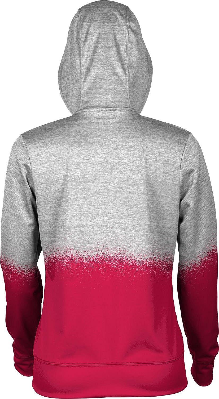 School Spirit Sweatshirt University of South Dakota Girls Pullover Hoodie Spray Over