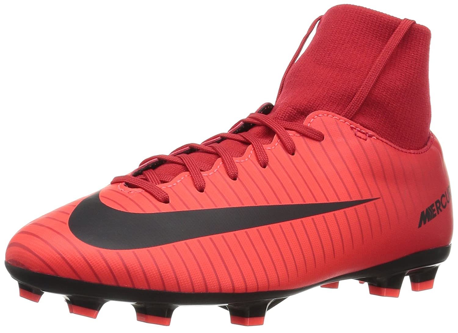 e466d729e Amazon.com  NIKE Jr. Victory VI Dynamic Fit FG Soccer Cleat (Sz. 4Y) Red