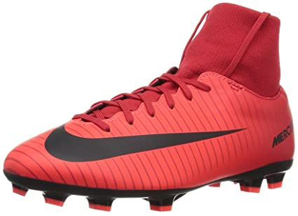 buy popular a6e45 adf44 Nike Mercurial Victory VI DF FG Youth Soccer Cleats- Red Size  3.5Y