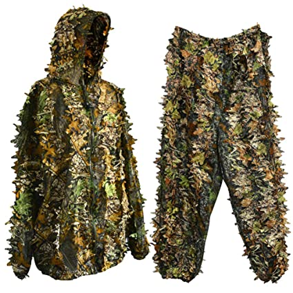 Amazon.com: Traje de caza Bantoye Ghillie, transpirable ...