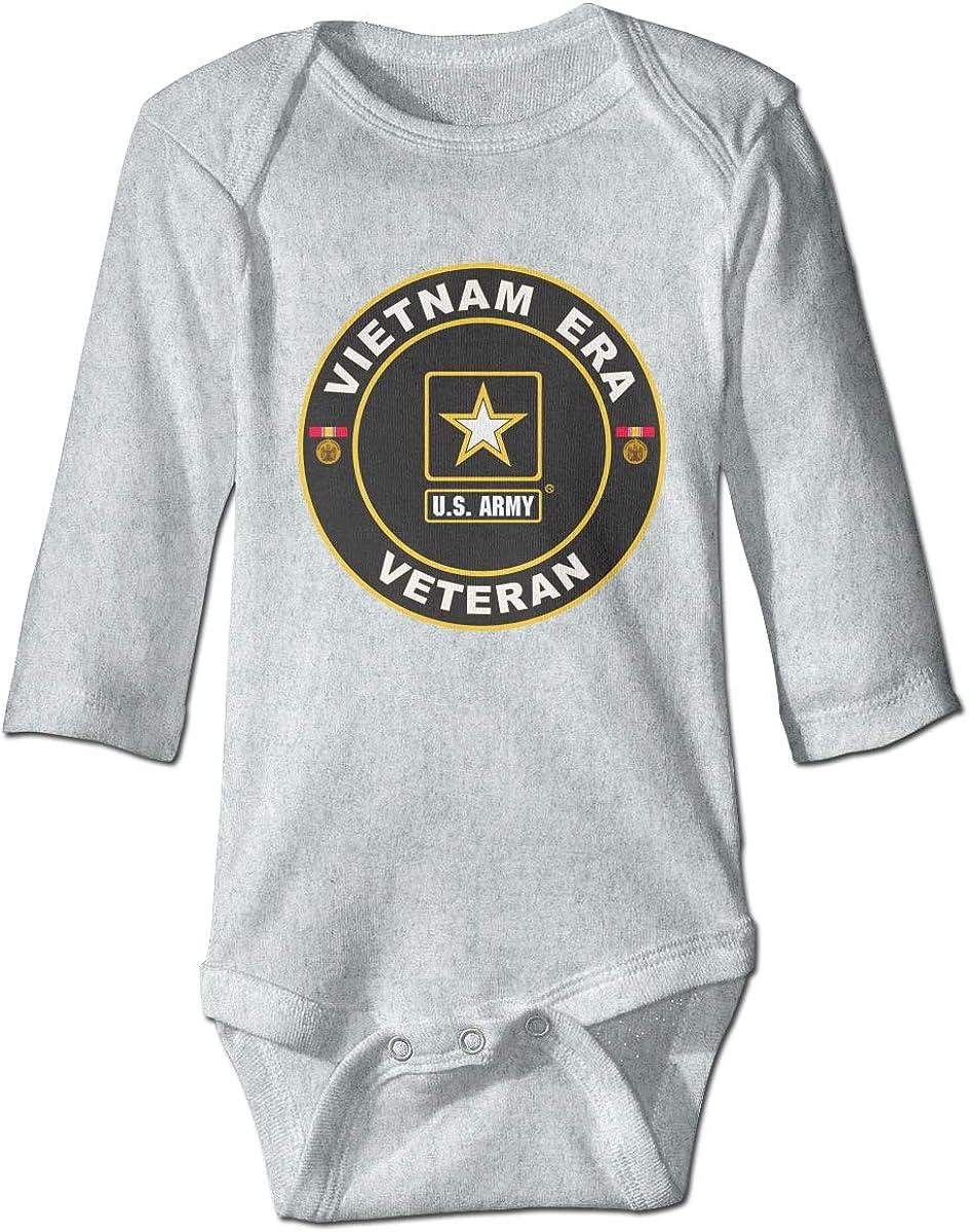 Marsherun Newborn Baby Boys and Girls U.S Army Vietnam Era Veteran Long-Sleeve Bodysuit Playsuits