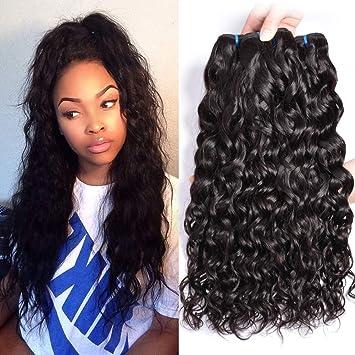 3dc43967d Natural Color Water Wave Brazilian Virgin Hair Weave 3pcs