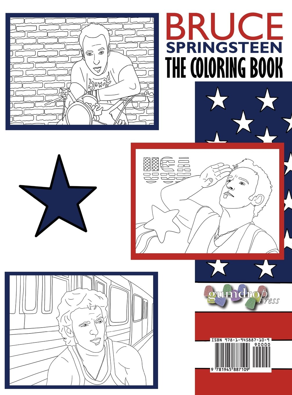 Bruce Springsteen: The Coloring Book: A Tribute to the Rock and Roll Boss Born to Run
