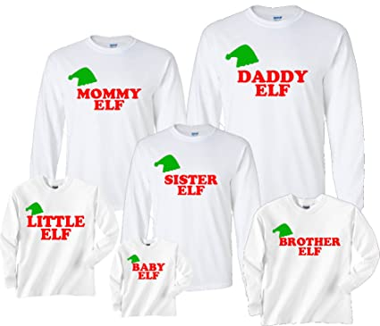 Matching Christmas Shirts For Family.Amazon Com Footsteps Clothing Personalized Family Of Elves