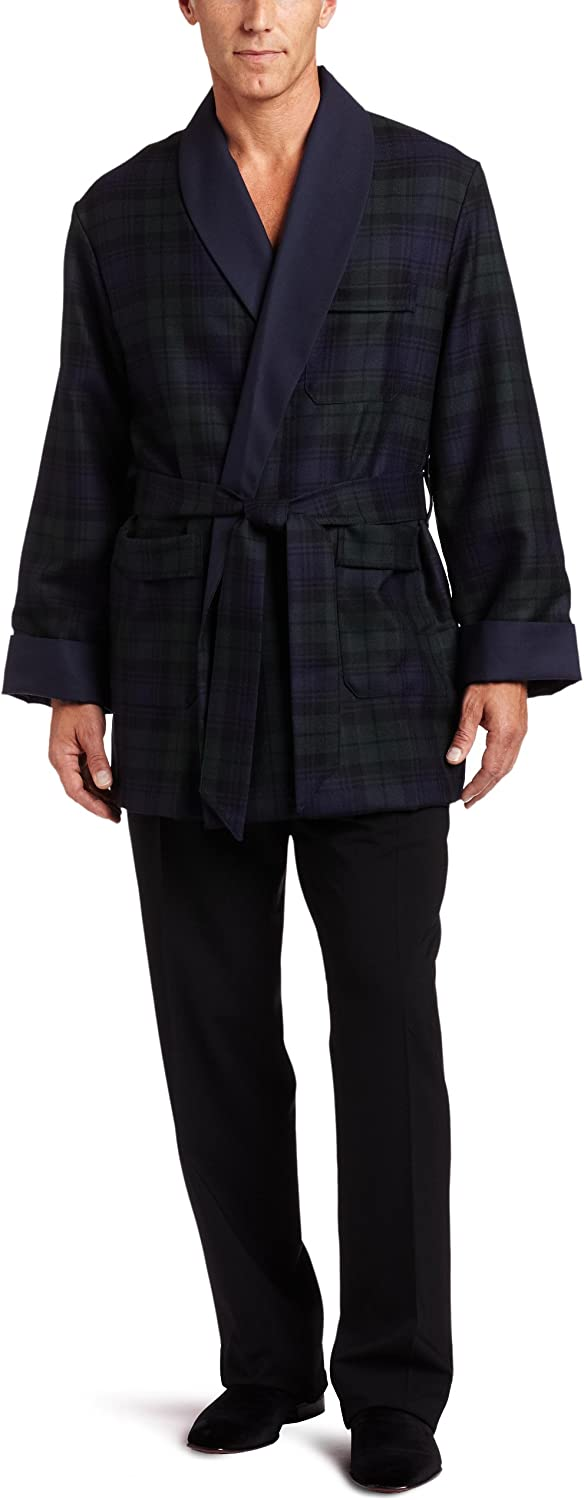 Derek Rose Men's Tartan Smoking Jacket