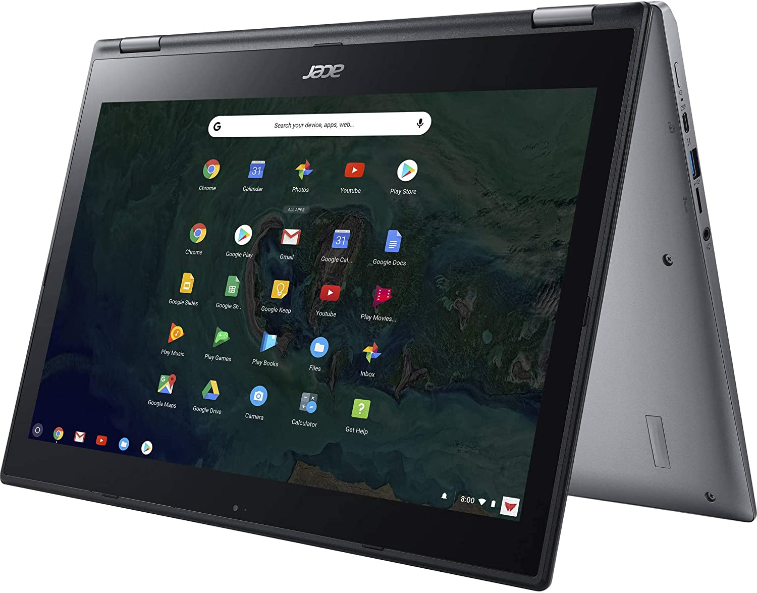 Acer Chromebook Spin 15 CP315-1H Convertible Laptop, Pentium N4200, 15.6in Full HD Touch, 4GB LPDDR4, 32GB SSD, Bluetooth, Webcam, Chrome OS (Renewed)