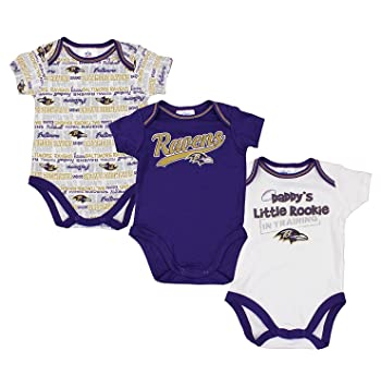 b4beb027d Image Unavailable. Image not available for. Color  Baltimore Ravens NFL  Baby Boys 3 ...