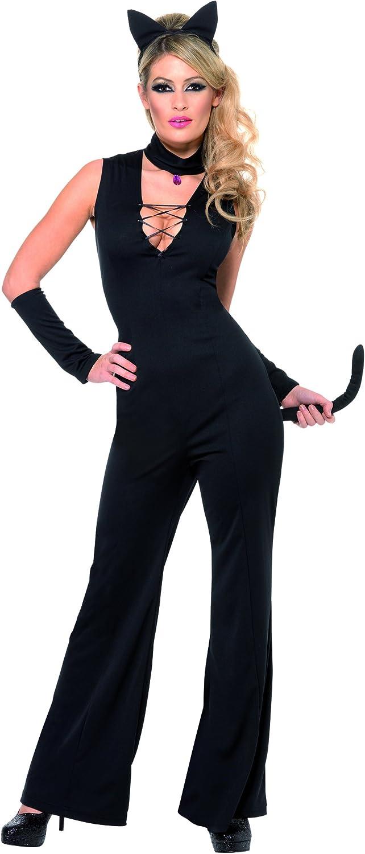 Desconocido Disfraz de gata negra para mujer: Amazon.es: Juguetes ...