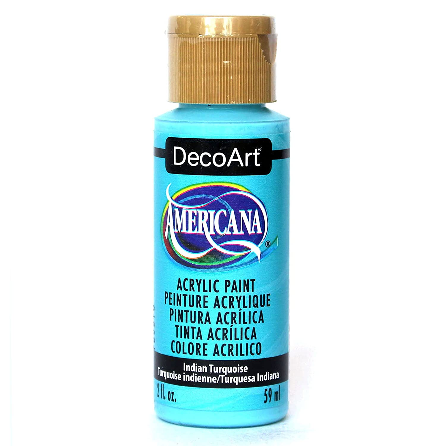 Deco Art Americana Acrylic Multi-Purpose Paint, Indian Turquoise DecoArt DAO87-3