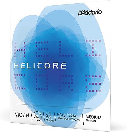 Medium Tension 1//2 Scale DAddario Helicore Violin String Set