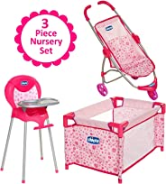 Baby Doll Furniture Gift Set, For Up To 18-Inch Baby Dolls, 3 Piece Mega Baby Doll Play Set, Baby Doll Stroller, Baby Doll Hi