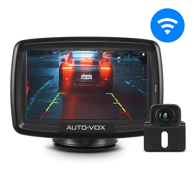 Auto-vox CS-2 Digital Wireless Telecamera di retromarcia Kit, Stabile di Segnale Telecamera Posteriore e Super Night Vision Telecamera retromarcia per Auto