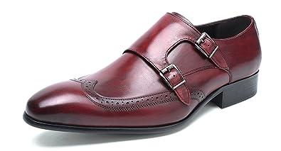 Amazon.com: Felix Chu Zapatos de moda color piel para hombre ...