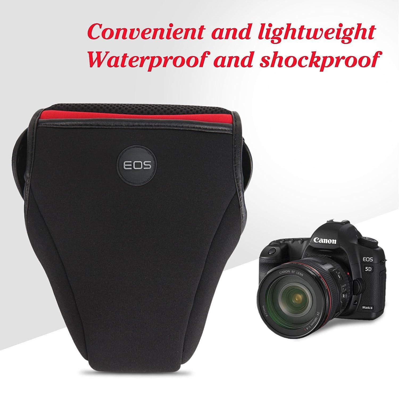 Canon EOS 70D 77D 80D SLR Camera Neoprene Body Case Cover Sleeve Pouch Bag
