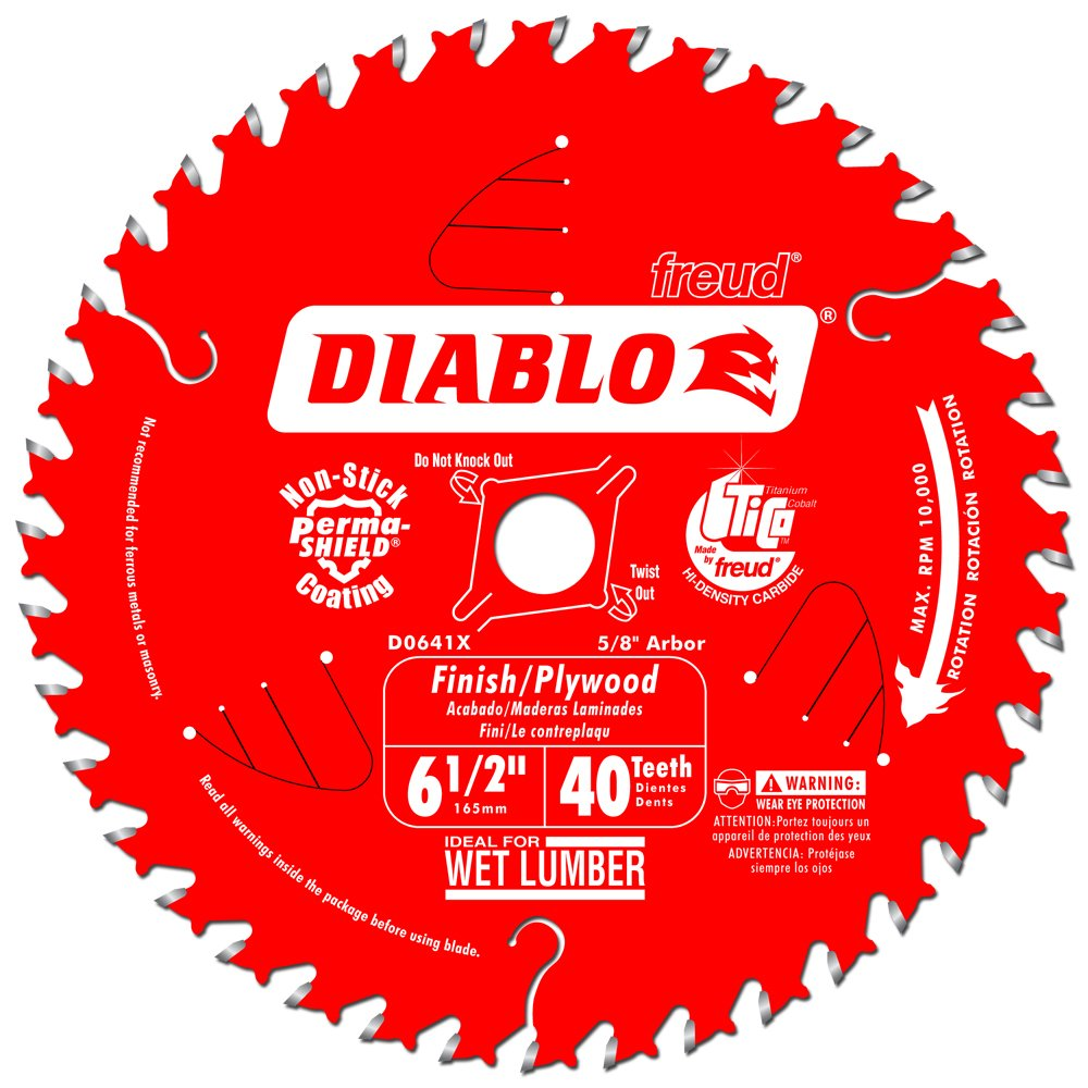 Best rated in circular saw blades helpful customer reviews diablo d0641x 6 12 by 40 finishing saw blade 58 greentooth Choice Image