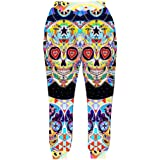 HaoTiam Men Jogger Pants 3D Print Skulls Face Sweatpants Casual Energetic Slim Breathable Trousers