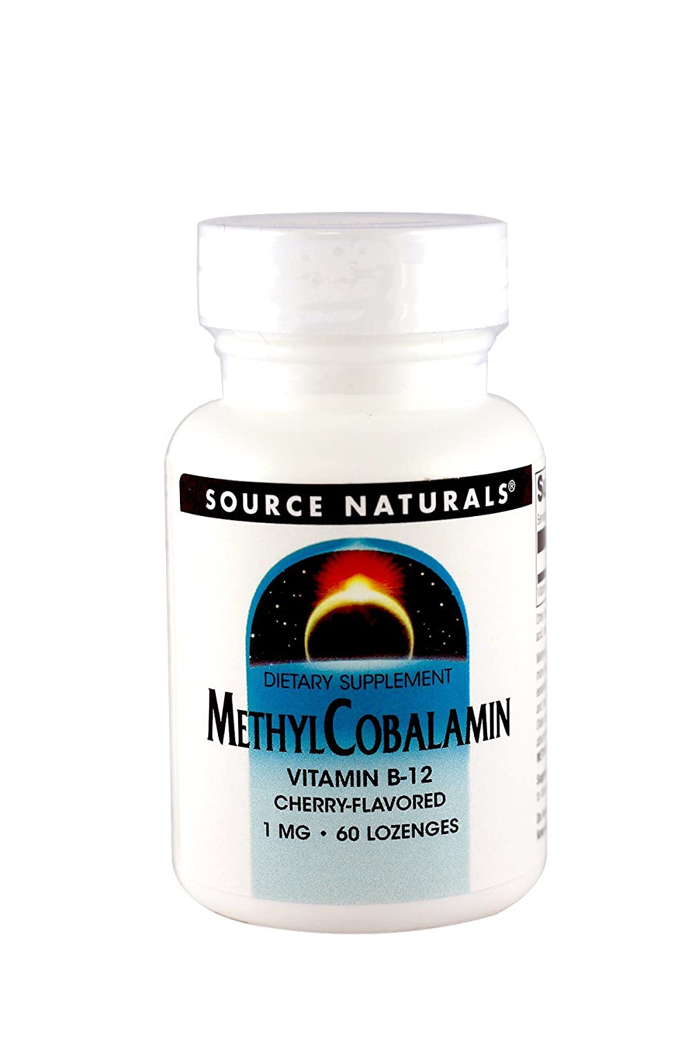 Source Naturals MethylCobalamin Vitamin B-12 1000mcg Cherry Flavored Sublingual – 60 Lozenges Pack of 2
