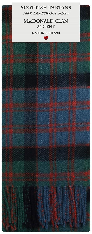 MacDonald Clan Ancient Tartan Clan Fashion Scarf 100/% Lambswool Made in Scotland