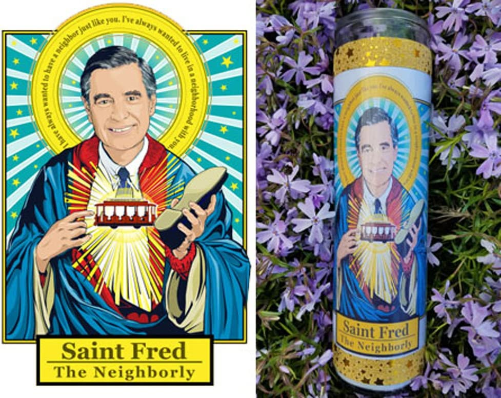 Saint Fred Mister Rogers Prayer Candle