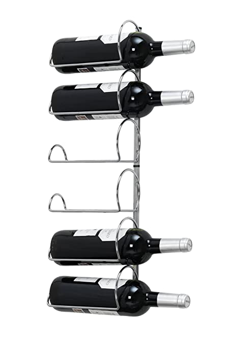 Pisa Wine Rack Wall Mounted 6 Bottle Storage Wall Hanging