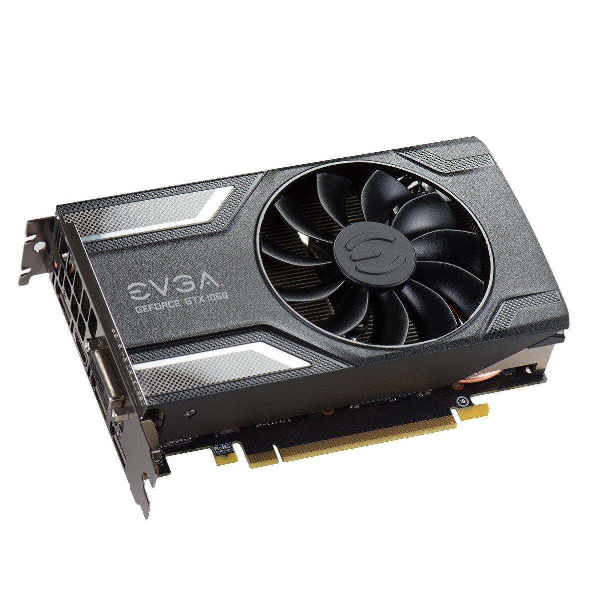 EVGA 06G-P4-6163-KR GeForce GTX 1060 6GB GDDR5 - Tarjeta gráfica (NVIDIA, GeForce GTX 1060, 7680 x 4320 Pixeles, 7680 x 4320 Pixeles, GDDR5, PCI ...
