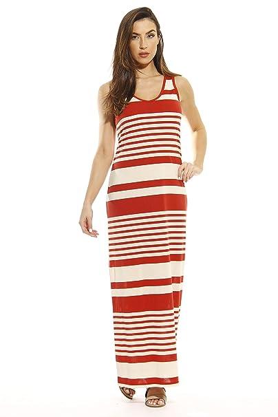 e480e357d3fd Just Love Summer Dresses Sleeveless Stripe Maxi Dress at Amazon ...