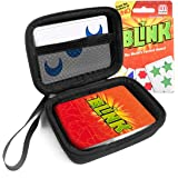 FitSand (TM Travel Zipper Carry EVA Hard Case for UNO Reinhards Staupe's BLINK Card Game The World's Fastest Game - Black Box, Blacker Box, Best Protection for UNO BLINK Cards