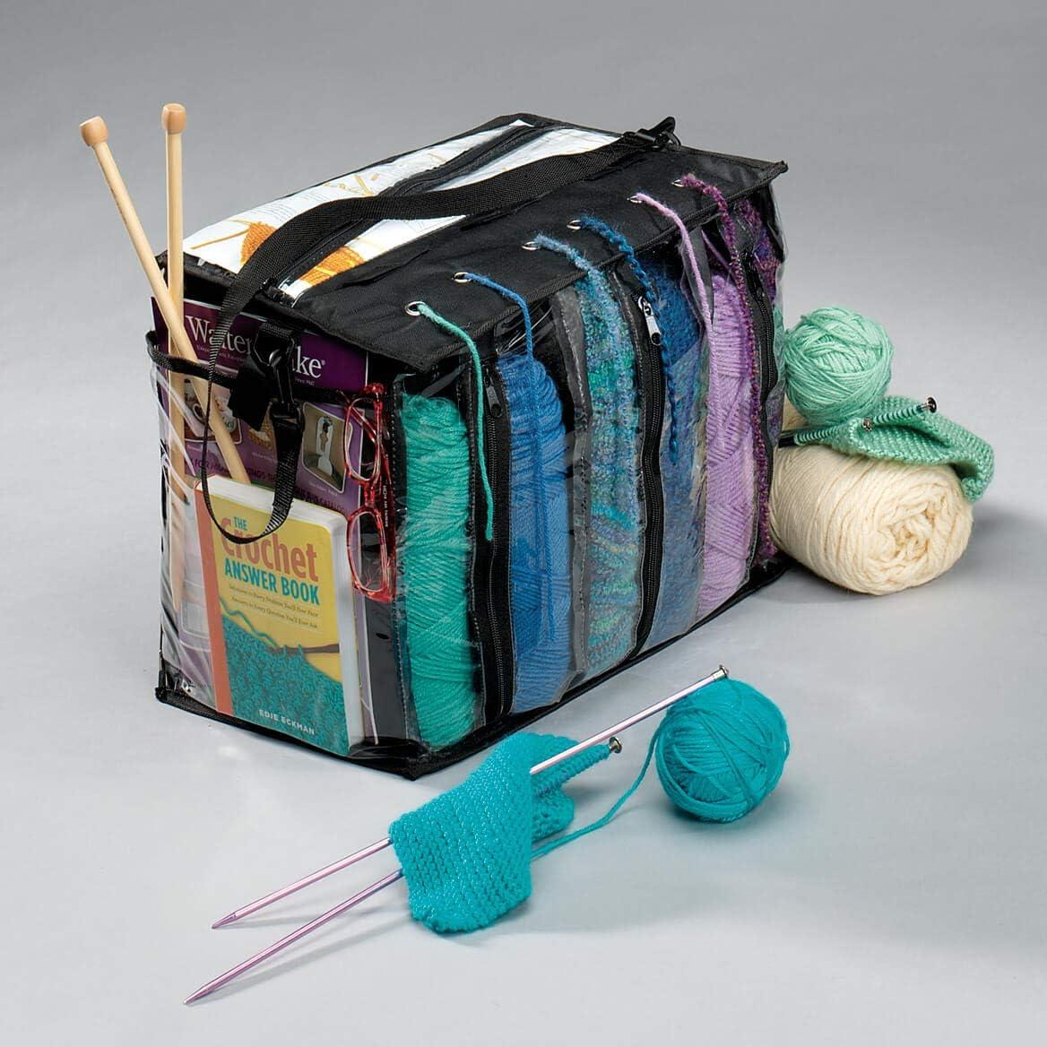 Miles Kimball Knitting Tote Bag- Yarn & Knitting Organizer Bag