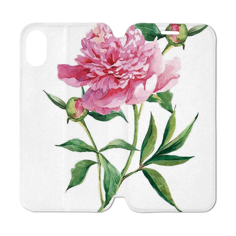 Amazon Com Watercolor Flower Leather Phone Case Vintage