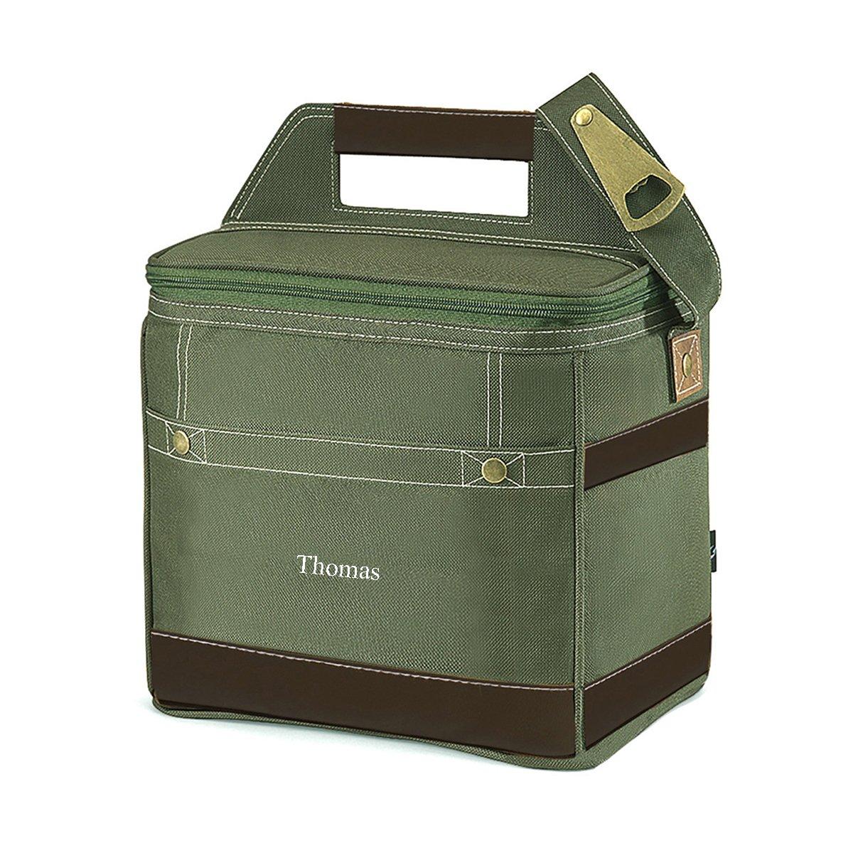 Personalized Khaki 12-Pack Cooler Bag – Custom Cooler Tote