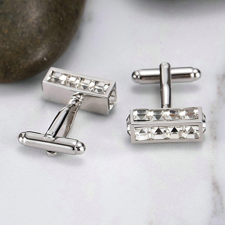 Aooaz Mens Stainless Steel Cuff Links 4 Styles Shirt Cufflinks Suit Dress Business 2 Pcs Novelty Jewelry