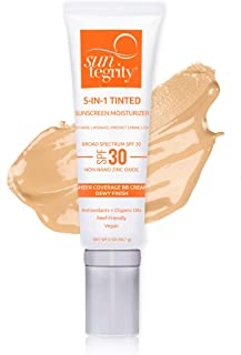 product image for Suntegrity Tinted 5 in 1 Mineral Sunscreen for Face (SPF 30 - 2 oz) - Golden Light | Natural BB Cream Moisturizer with Physical UVA/UVB Broad Spectrum Protection | Safe for Sensitive Skin