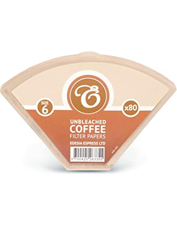 Garosa 350 x 60 mm de Di/ámetro No.6 Cafetera Reemplazo Filtros De Papel Blanco Circular