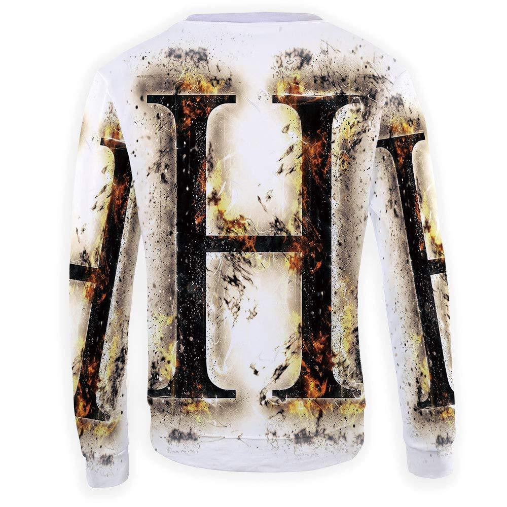 MOOCOM Mens Letter G Sweatshirt Pullover