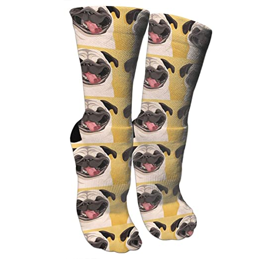 d86012b67b2e4 Cute PUG Pattern Casual Cotton Crew Socks Cute Funny Sock, great For ...